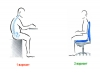 Как правильно сидеть в офисном кресле?